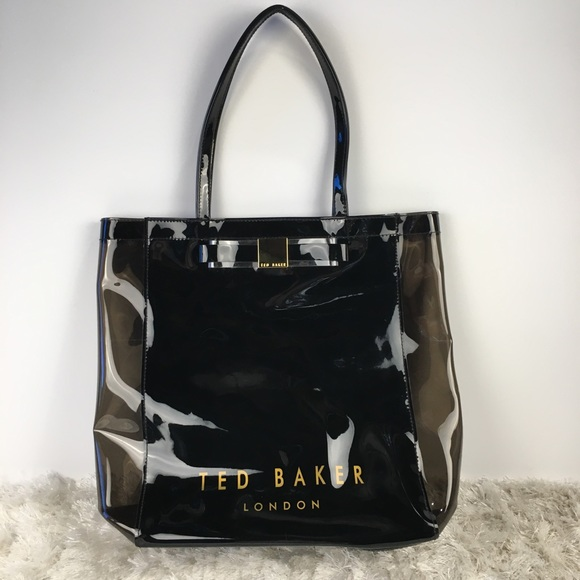 5c2b5002a71042 Ted Baker London Tote Black Clear Plastic Bow Bag.  M 5b0a04133b1608da25710f43